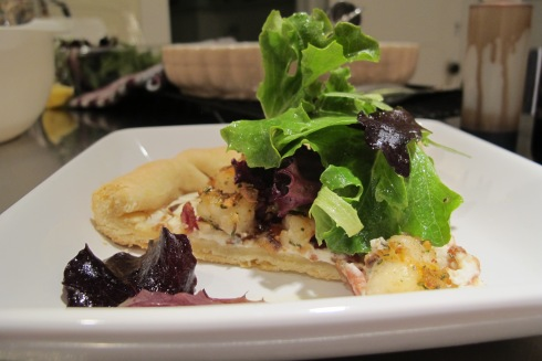 Shrimp and Goat Cheese Tart